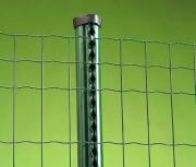 Apaļš profilēts žogu stabs LUX 50 mm h 205 cm zaļš